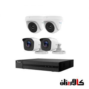 دوربین های 2 مگاپیکسل هایلوک پکیج thc-t120-c thc-b120-m dvr-204g-f1
